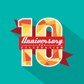 10 Years Anniversary Celebration Design — Vettoriale Stock