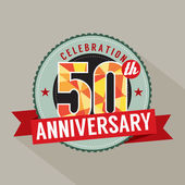 50 Years Anniversary Celebration Design — Stock Vector