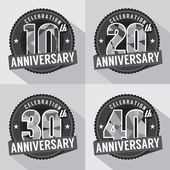 Set of Anniversary Celebration Design — Wektor stockowy