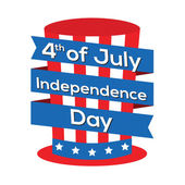 4th of July Independence Day — Stock Vector