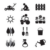 Agricultural Equipment Icons  — Stock Vector