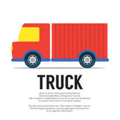 Truck Vector Illustration — Vetorial Stock