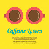 Caffeine Lovers Vector Illustration — Stok Vektör