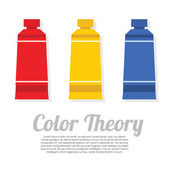 Set of Primary Color Tubes — Stock Vector