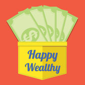 Happy Wealthy Vector Illustration — Stock Vector