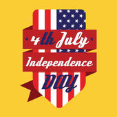 4th July American Independence Day Design — Stock Vector