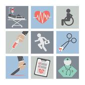 Flat Design Medical icons — Stockvektor