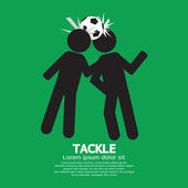 Tackle Soccer Sign Vector Illustration — 图库矢量图片