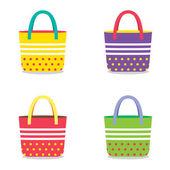 Set of Colorful Handbags  — Stock Vector