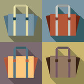 Flat Design Tote Bags Vector Illustration — Wektor stockowy