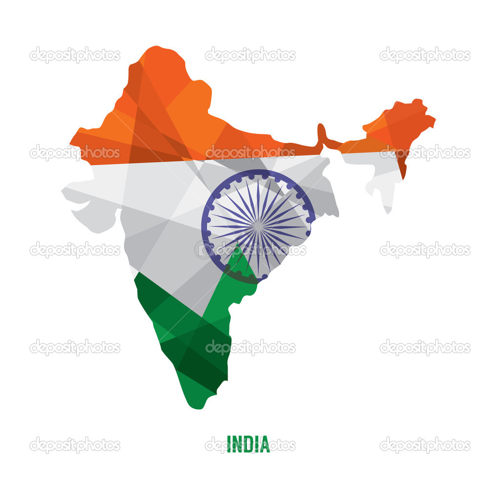 匹配的印度矢量图电子地图
