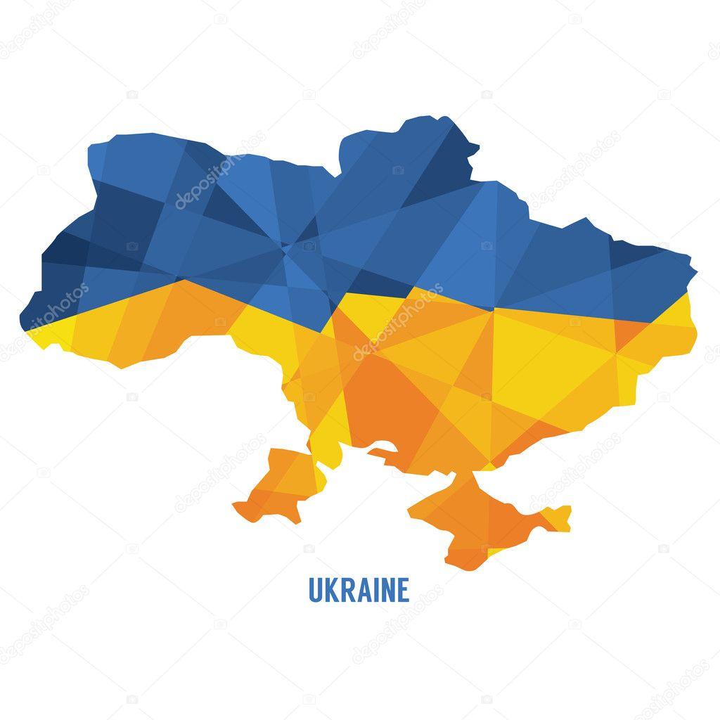 匹配的乌克兰矢量图电子地图
