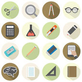 Modern Flat Design Education Icons  — Stock Vector