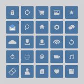 Mavi web sitesi vektör simgeler kümesi — Stok Vektör
