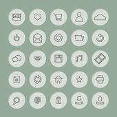 Black Line Website Vector Icons Set — Stock Vector