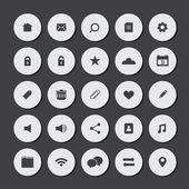 Round Flat Website Vector Icons Set  — Wektor stockowy