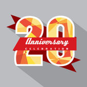 20 Years Anniversary Celebration Design — Vector de stock