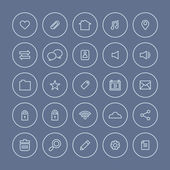 Round  Line  Website Vector Icons Set  — Wektor stockowy
