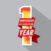 First Year Anniversary Celebration Design — Vector de stock