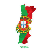 Map of Portugal Vector Illustration — Stock Vector