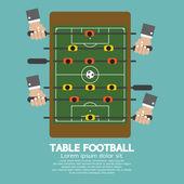 Top View of Table Football Vector Illustration — Stok Vektör