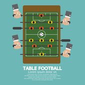 Top View of Table Football Vector Illustration — Vector de stock