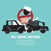 No Drink Driving Vector Illustration — Stock Vector