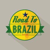 Road to Brazil Label Vector Illustration — Stock Vector