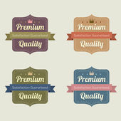 Set of Vintage Retro Labels — Stock Vector
