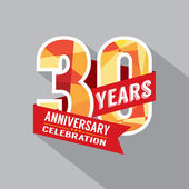 30 år anniversary celebration design — Stockvektor
