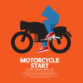 Starting Motorcycle Graphic Vector Illustration — Stock Vector