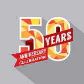 50th Year Anniversary Celebration Design — Stock Vector