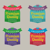 Set of Colorful Labels Vector Illustration — Stock Vector