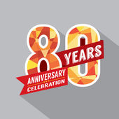 80th Years Anniversary Celebration Design — Vector de stock
