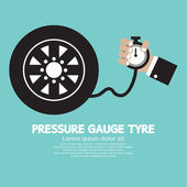 Pressure Gauge Tyre Vector Illustration — Stock Vector