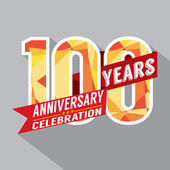 100th Years Anniversary Celebration Design — Vettoriale Stock