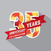 35th Years Anniversary Celebration Design — Stock Vector
