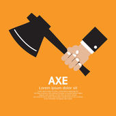 Axe In Hand Vector Illustration — Stock Vector