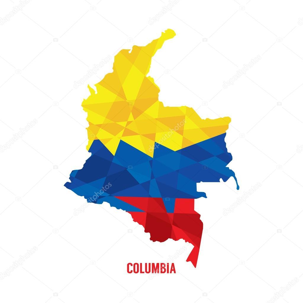 匹配的哥伦比亚矢量图电子地图