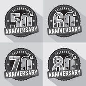 Set of Anniversary Celebration Design — Stock Vector