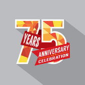 75th Years Anniversary Celebration Design — Stock Vector