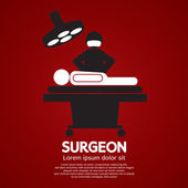 Surgeon Operate On Patient Sign Vector Illustration  — Stock Vector