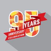 95th Years Anniversary Celebration Design — Stock Vector
