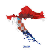 Map of Croatia Vector Illustration  — Stock Vector
