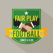 Fair Play Badge Label Vector Illustration  — 图库矢量图片