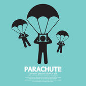 Parachutes Skydiving Sign Vector Illustration — Stock Vector
