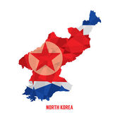 Map of North Korea Vector Illustration  — Stock Vector
