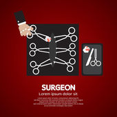 Surgeon's Incision Scissors Vector Illustration — Stock Vector