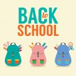 Back to School Concept Vector Illustration — Stock Vector #49182755