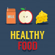 Flat Design Healthy Food Vector Illustration — Stock Vector #49183003